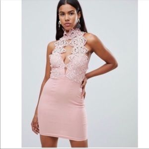 ASOS Rare London Lace Halter Dress (B4)